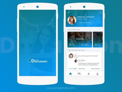 Group Discussion Application group discussion application uiux ui app android mobile application