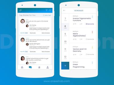 Group Discussion Application-2 uiux ui mobile application group discussion application app android