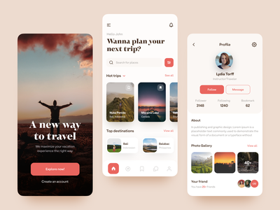 Travel App Concept discover mobile design figmadesign figma mobile design mobile ui travel app traveling travel uxdesign uidesign ux  ui ux ui application app design app adrian