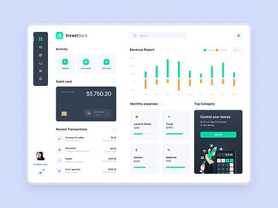 Banking Dashboard dashboard creditcard banking bank app design ui figma ux uidesign web app design