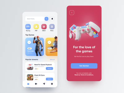 Gaming App game design uidesign figma mobile app design ui ux design app game