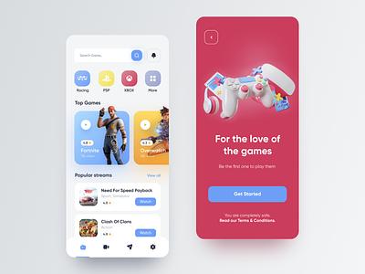 Gaming App game design uidesign figma mobile app design ui ux design app game