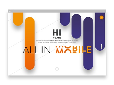 All In Mobile website design web visual key