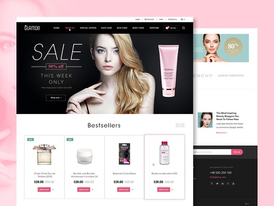 Beauty ecommerce www design web cosmetics beauty shop ecommerce