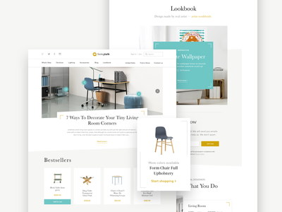 Interior Designers Website design sketch page landing website web