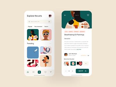 👨🎨 DailyArt App uxdesign uidesign sketchapp design ui sketch