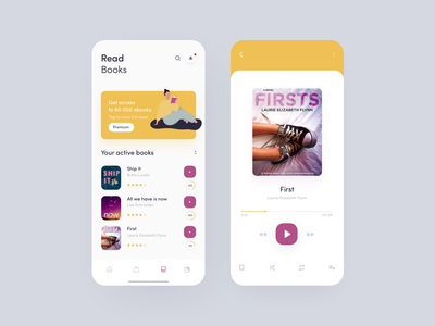 Read Books 📚 reading books ux app design illustration design sketch ui app