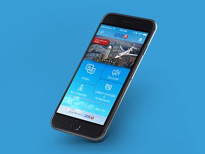THY Communication App fly mockup app mobile design türk hava yolları turkish airlines thy