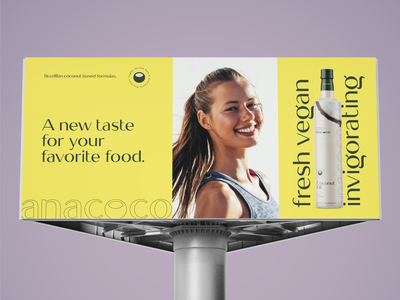 anacoco Rebranding - Billboard advertising outdoor billboard logo design illustration graphic design coconut fresh cappuccino coco anacoco branding
