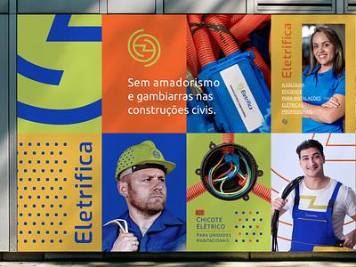 Destec Rebranding to Eletrifica - Wall Posters e logo logo design brand electric harness kit electric electrify illustration design logo graphic design fresh branding