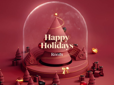 Happy Holidays smoke train christmas animation illustration 3d