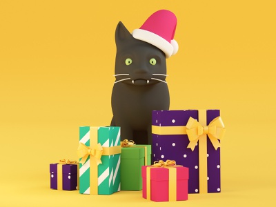 Smart Cat cat ueno motion illustration 3d