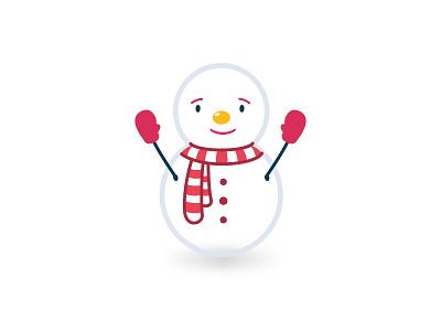 Snowman love scarf year new illustration winter man snow snowman icons flat christmas