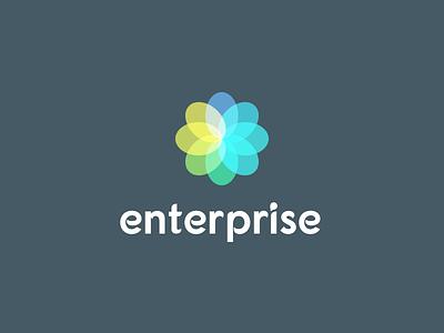 Enterprise logo graphics vector illustation art identity icon colors wip mark logo
