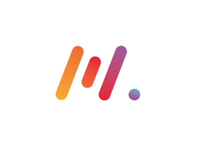 M Monogram avatar avatar symbol monogram mark m logotype logo illustration identity design