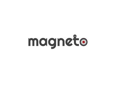Magneto vector symbol mark logo illustration identity icon graphics documentaries colors art