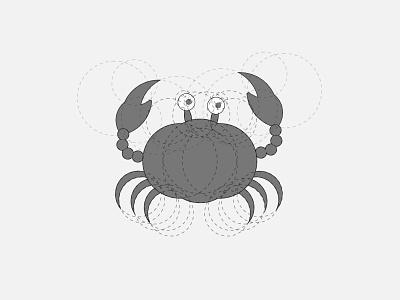 crab art illustration logo grids circle goldenratio crab illustrator vector art