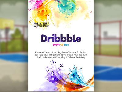 Dribbble Draft Day invitecard dribbbledraftday invite dribbbleinvite draftday dribbble
