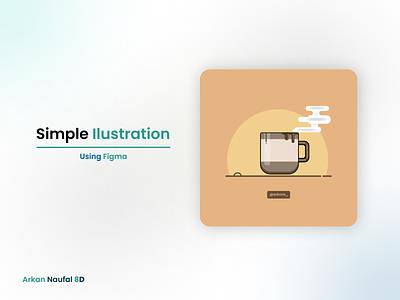 Simple Illustration Using Figma illustration design graphic design