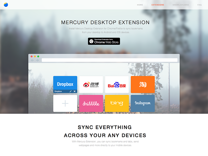 Mercury extension website website extension mercury
