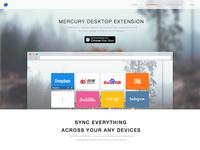 Mercury extension website