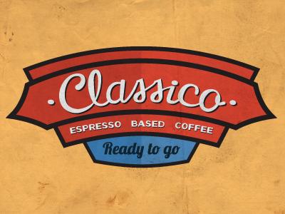 Classico Shot 2 coffee retro emblem logo typography