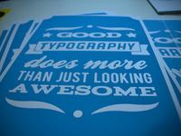 Good typography printed