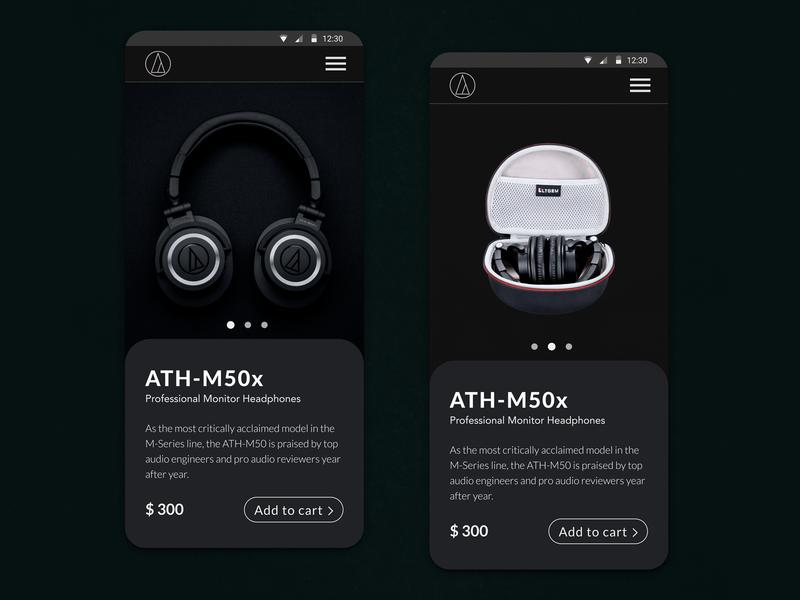 Headphone - product page product page product uidesign ui brasilia brazil page headphone