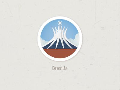 Catedral Brasilia city brasilia brazil icon