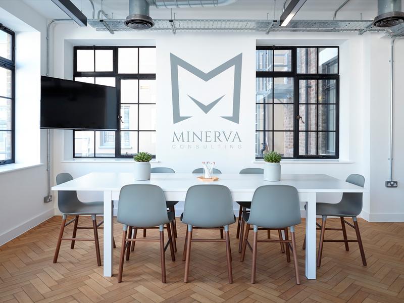 Minerva Office Environment branding design logo