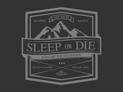 Sleep or Die t-shirt typography illustration bear design