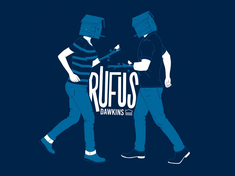 Rufus Dawkins design illustration typography vector band merch t-shirt