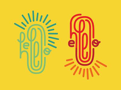 Hello Ello strokes stroke mark rays sunshine illustration type hello