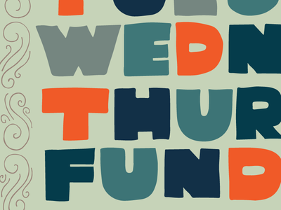 Is it Funday yet? funday day week fall lettering handlettering type illustration handdrawn calendar days