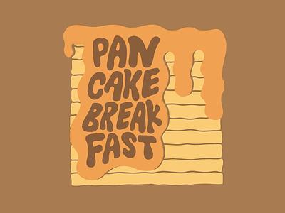 Pancake Pileup food breakfast pancake syrup handlettering handdrawn lettering type illustration syrup pancakes pancake