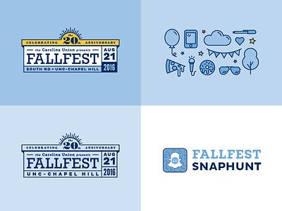UNC FallFest 2016—20th Anniversary! fall festival carolina tar heels chapel hill unc brand brands logos logo design brand identity