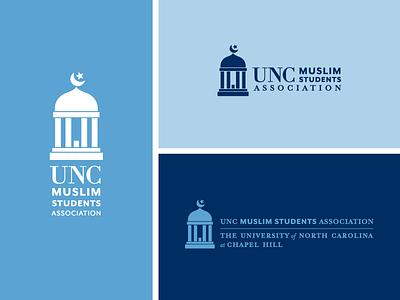 UNC x MSA icon logo muslim old well star moon mosque carolina blue north carolina nc chapel hill unc