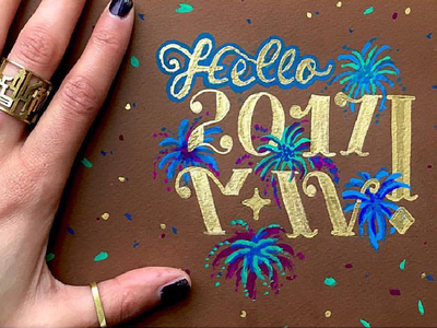 2017 illustration fireworks jewelry ring handlettering lettering typography paint arabic type calligraphy