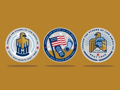 Patriotic Veteran Challenge Coin Designs unc tarheel emblem logo seal patriotic flag usa eagle illustration buttons coins