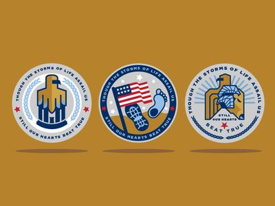 Patriotic Veteran Challenge Coin Designs