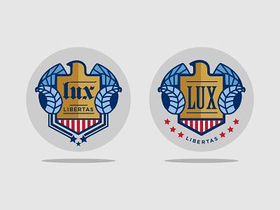 UNC Ram + Patriotic Eagle unc tarheel emblem logo seal patriotic flag usa eagle illustration buttons coins