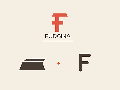 Fudgina Chocolate Bar Logo branding fudge fudgina icon logo chocolate