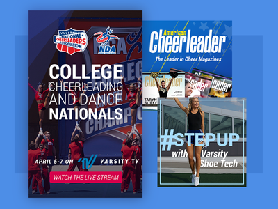 Cheerleading and Dance Promotional Ads advertising display ads graphic design marketing