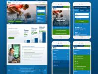 First Internet Bank Website Redesign
