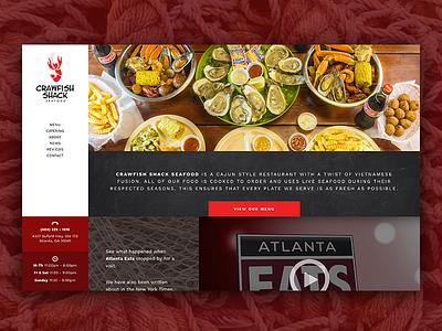 Crawfish Shack Website Redesign web design