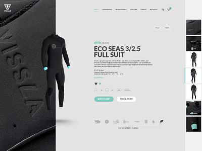 VISSLA Ecommerce experiment wetsuit surf vissla website ecommerce