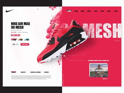 Nike Air Max interface splatter air max concept shoe clean pink desktop ux ui nike