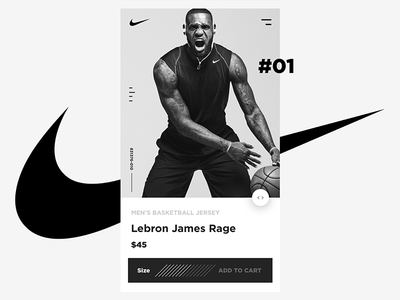 Nike Mobile - Lebron James Rage design black  white clean sport mobile app basketball lebronjames nike ui art direction
