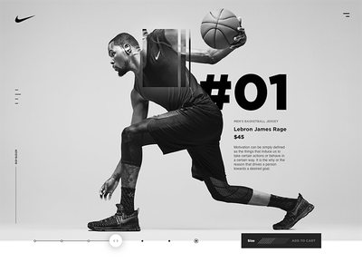 Nike Move ecommerce desktop nike basketball clean white black interactive design art direction ux ui