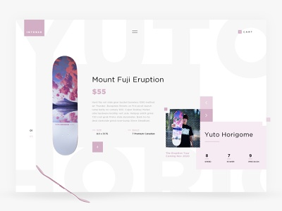 Shred Skateboards apparel yuto grey blueprint pink hair ui  ux ui design art direction website clean white ecommerce ui web skateboarding